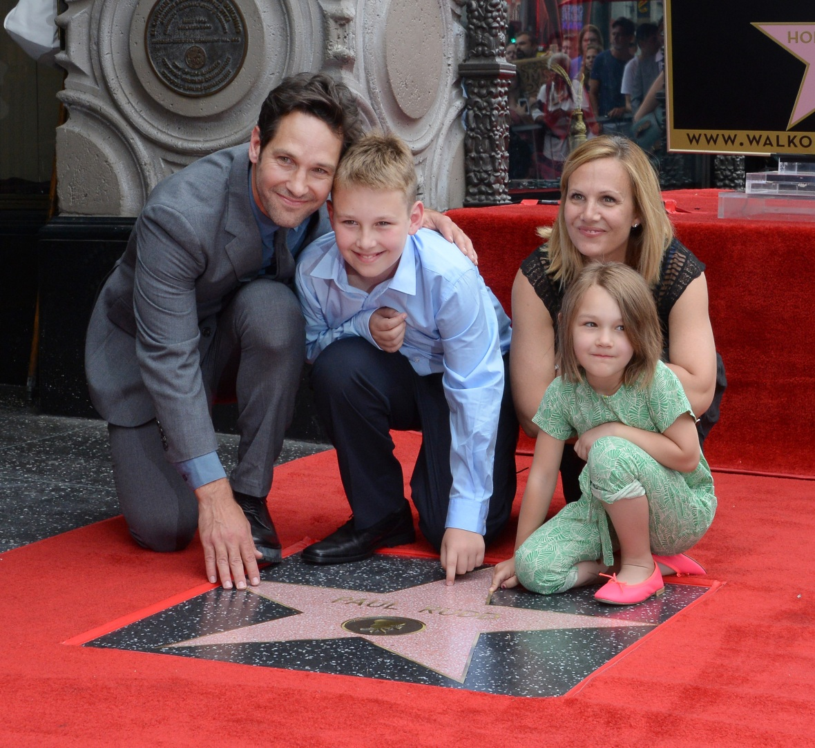Paul Rudd With Wife Julie Yaeger, Son Jack and Daughter Darby