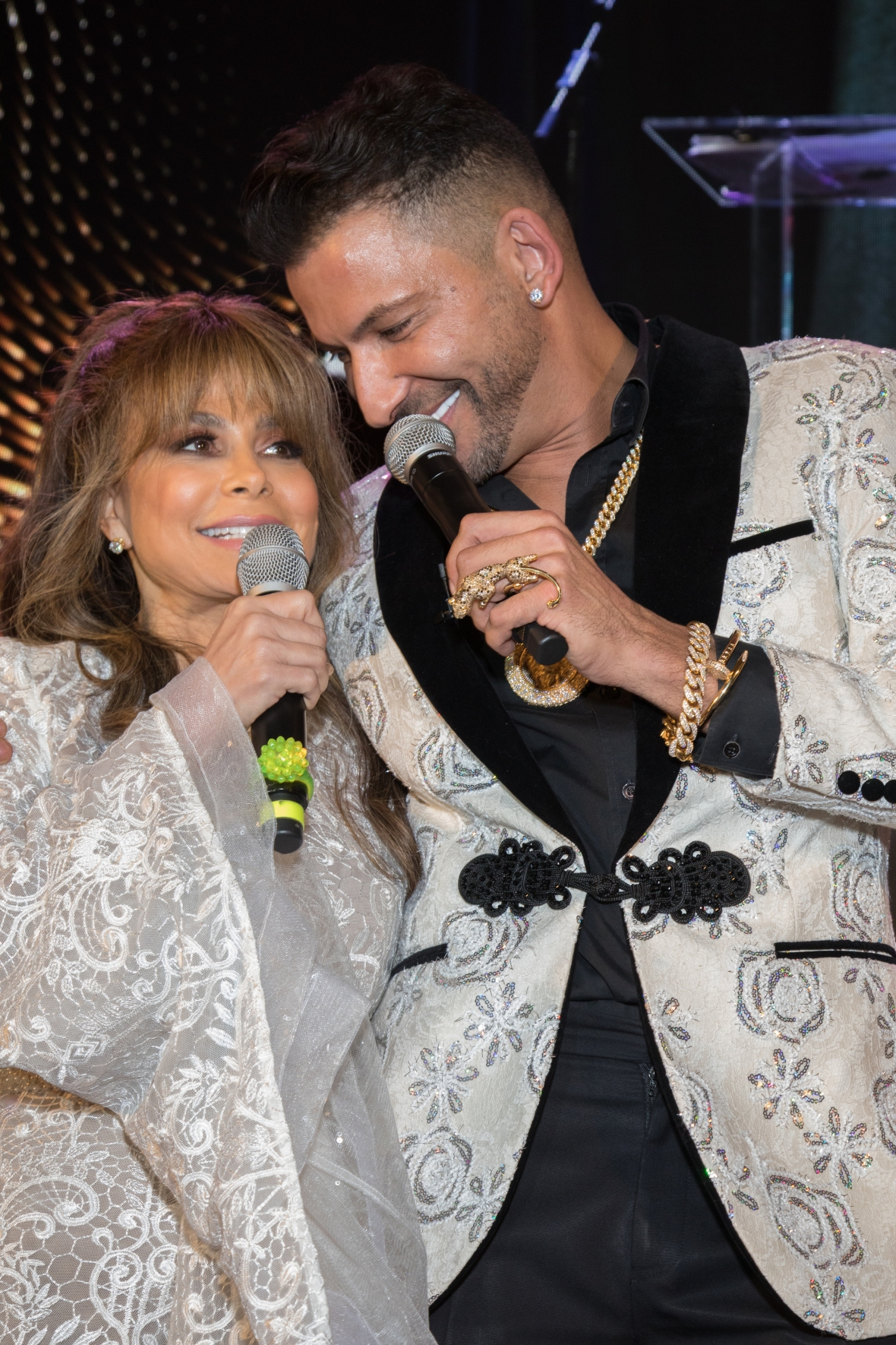 Paula Abdul and Martino Cartier