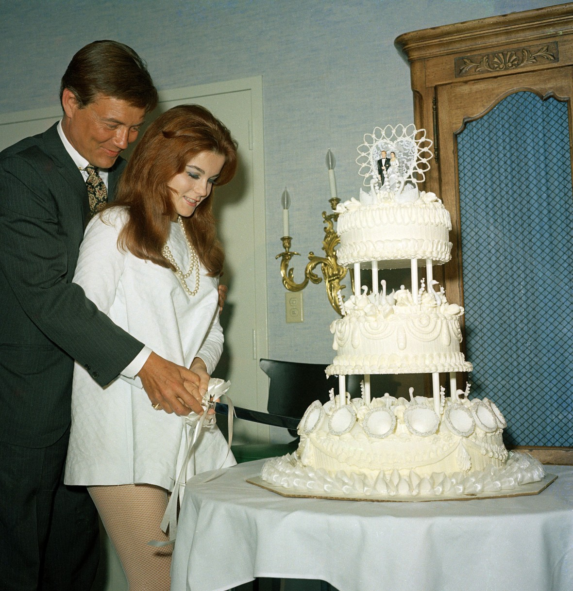 Roger Smith and Ann-Margret Wedding Day