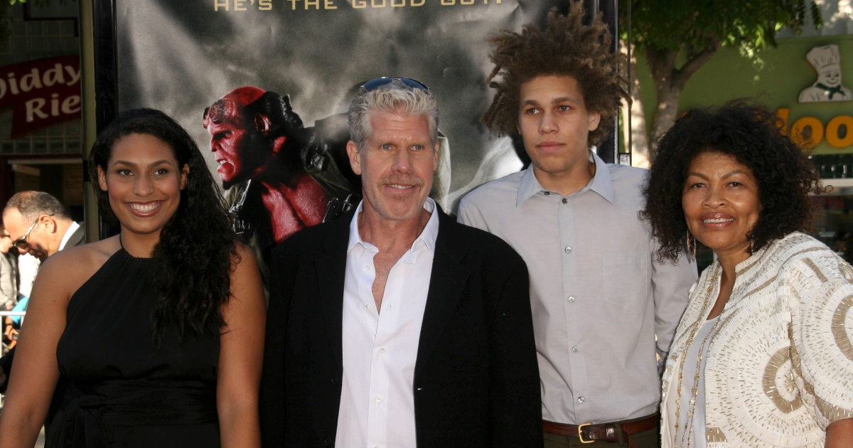 Ron Perlman Kids Get To Know Daughter Blake And Son Brandon