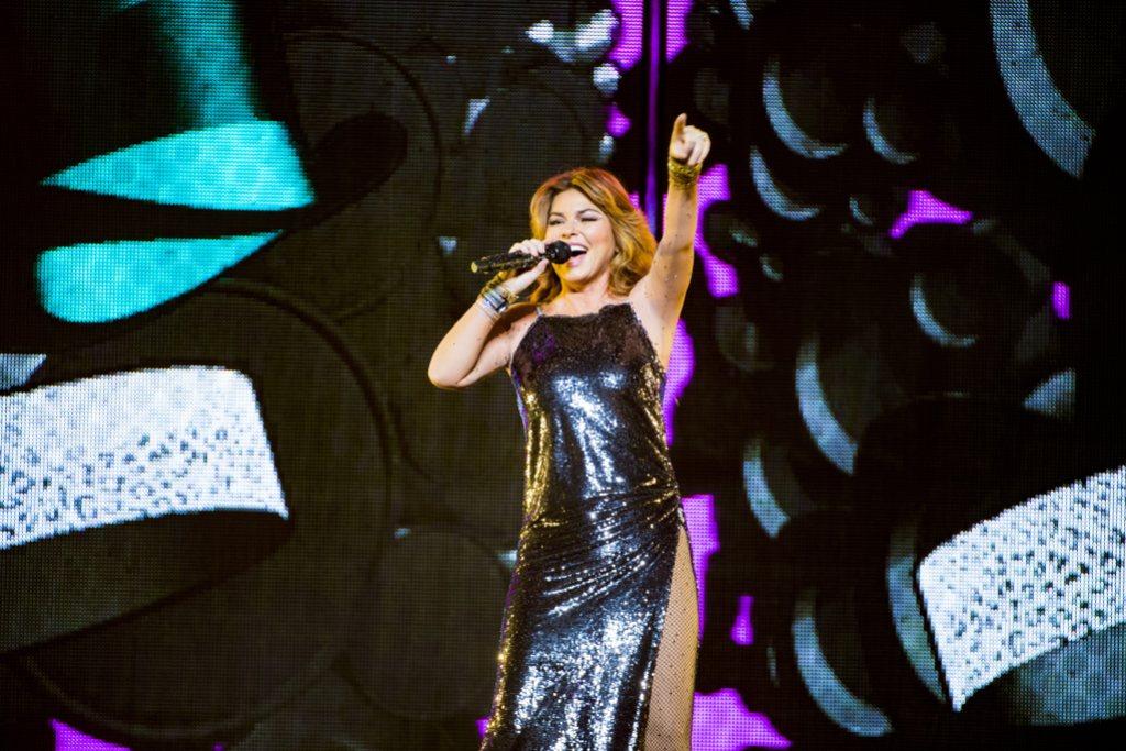 Shania Twain in concert at Globen, Stockholm, Sweden - 17 Oct 2018