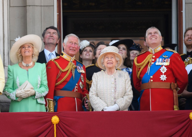 Queen Elizabeth, Prince Charles and Prince Andrew