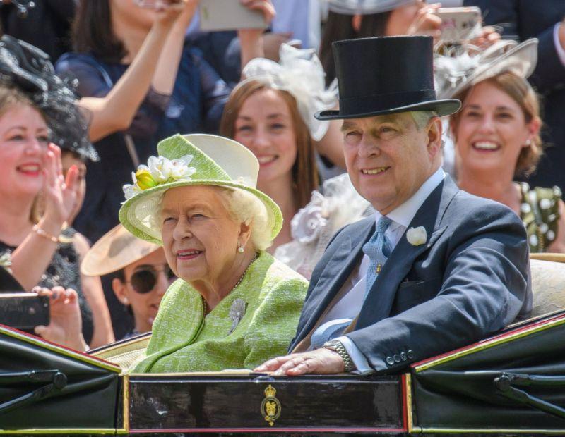 Prince Andrew and Queen Elizabeth