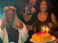 Whoopi Goldberg celebrates her 64th birthday at Manhattan restaurant Tao Downtown
