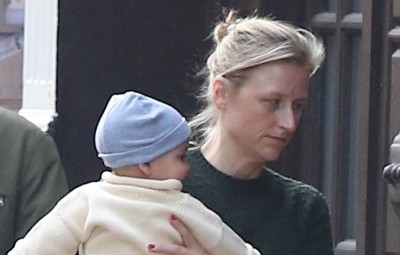 Mamie Gummer and Son Out in the West Village