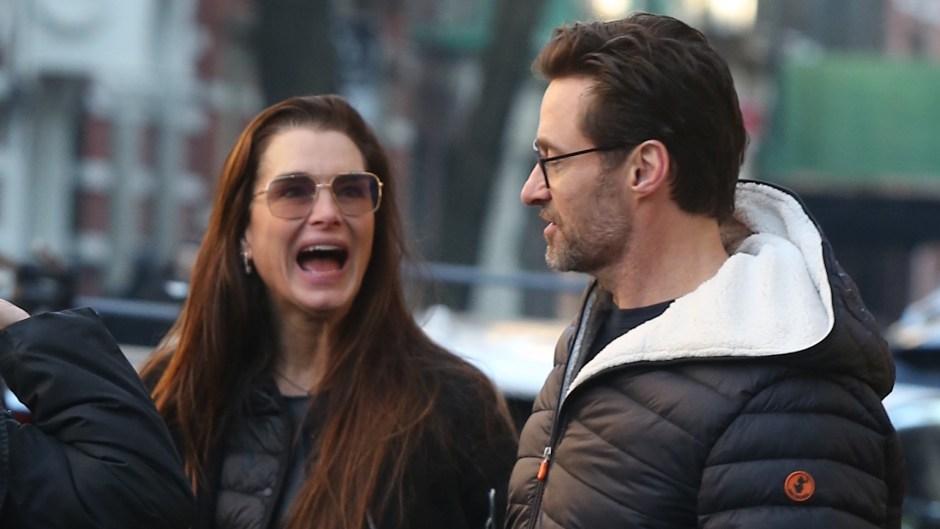 Hugh Jackman Running into Brooke Shields in the West Village