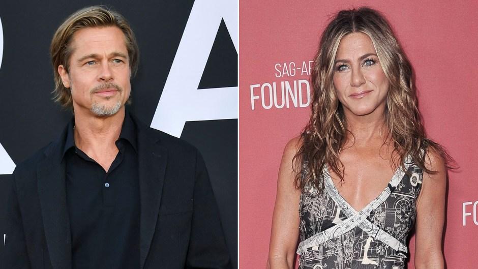 Brad Pitt Makes Appearance at Jennifer Aniston's Christmas Party