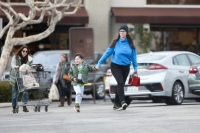 Jennifer Love Hewitt is seen makeup free with her youngest child, four-year-old son Atticus grocery shopping in Pacific Palisades.