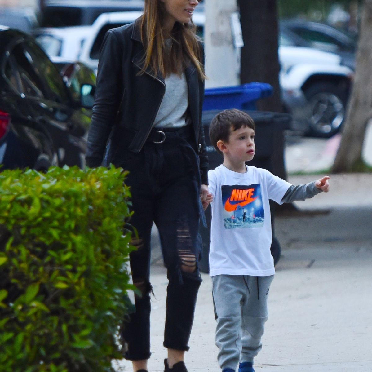Jessica Biel and Her Only Son Silas Spend the Day Together in Los Angeles
