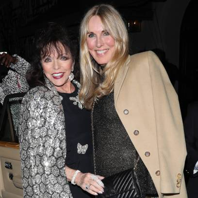 Joan Collins and Percy Gibson along with Alana Stewart dine at LA hot spot Craig's