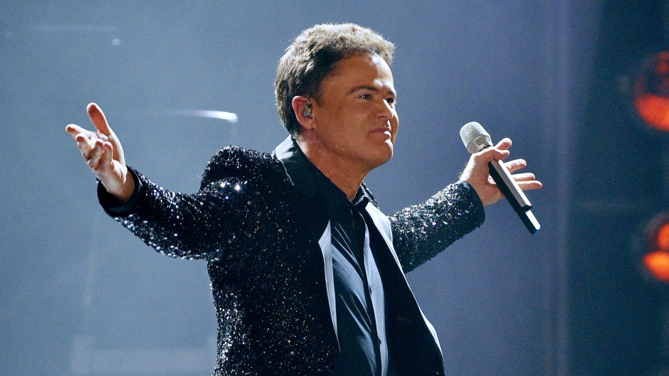 Singer Donny Osmond Performs At The Manchester Arena Manchester At The First Date Of His 'the Soundtrack Of My Life Tour' Uk Tour.