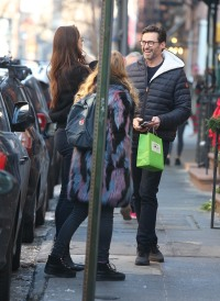 Hugh Jackman Running into Brooke Shields in the West Village