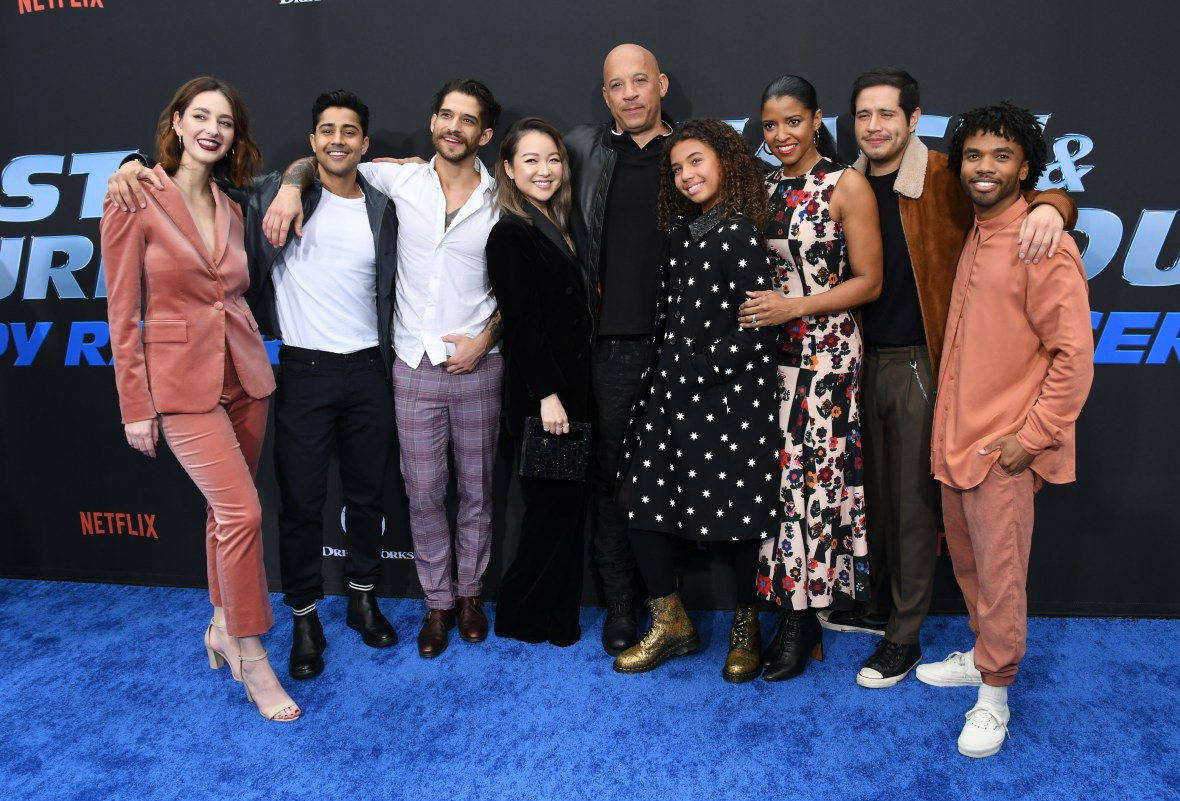 Cast of 'Fast & Furious: Spy Racers' at the World Premiere