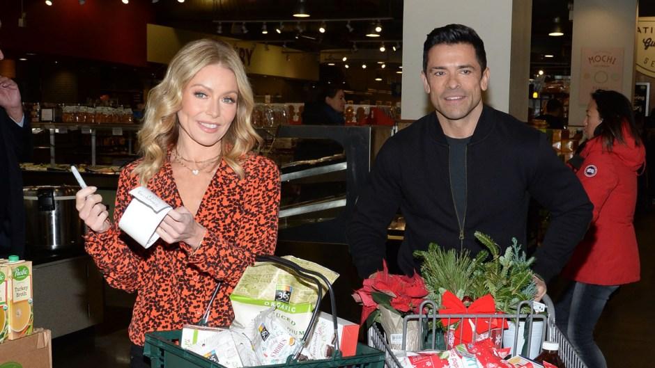 Kelly Ripa and Mark Consuelos Shopping at Amazon Holiday Event