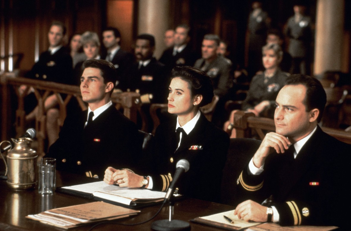Tom Cruise, Demi Moore and Kevin Pollak in 'A Few Good Men'