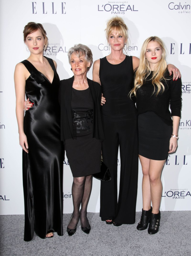 Melanie Griffith Stella Banderas Tippi Hedren Dakota Johnson
