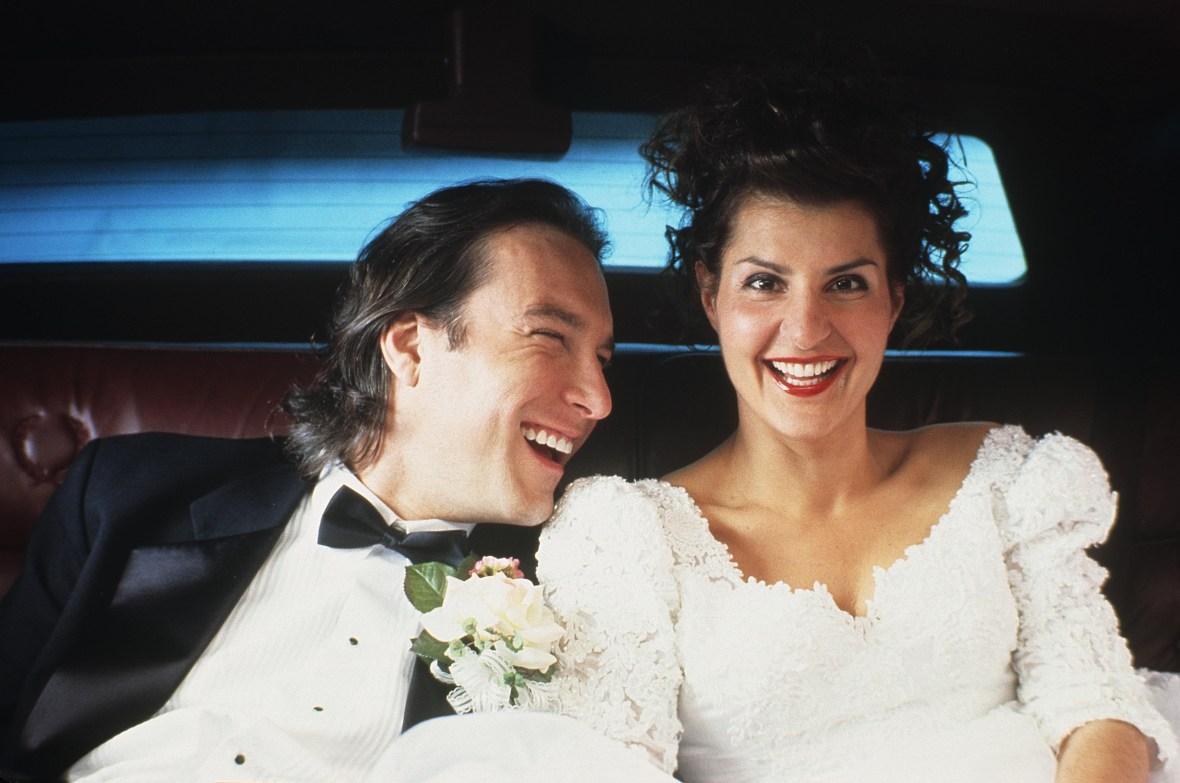Nia Vardalos and John Corbett in 'My Big Fat Greek Wedding'