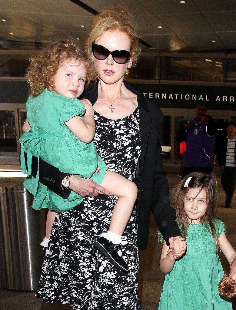 Nicole Kidman and family at LAX airport, Los Angeles, America - 02 Jan 2014