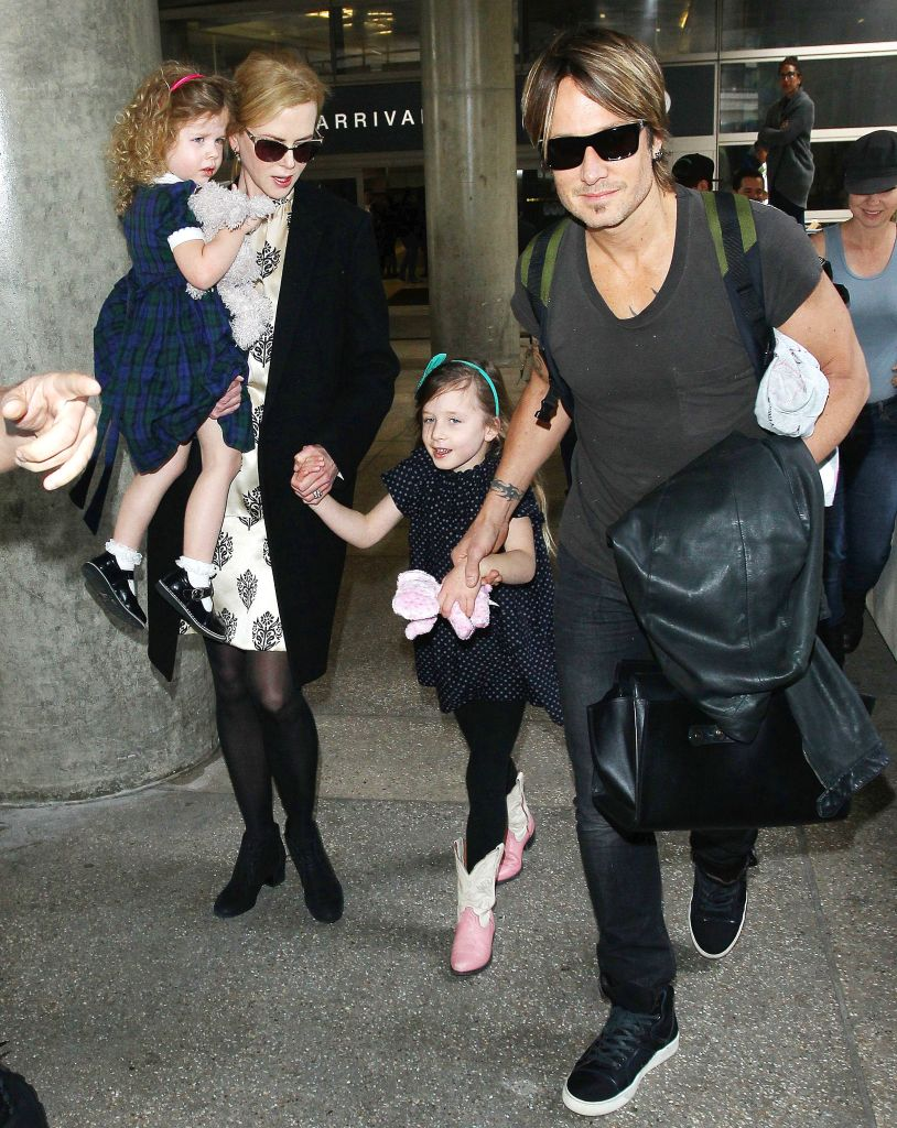 Keith Urban and Nicole Kidman at LAX airport, Los Angeles, America - 02 Jul 2014