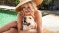 Pamela Anderson With Golden Retriever Zeus