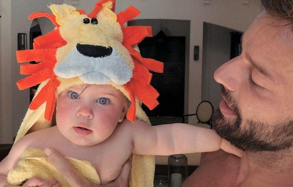 Ricky Martin and daughter Renn