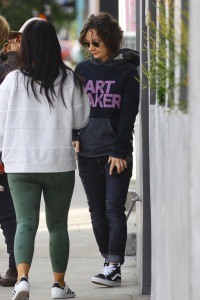 Sara Gilbert and wife Linda Perry spotted out for Vegan lunch in West Hollywood