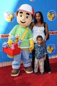 Angela Bassett and son Slater Vance
