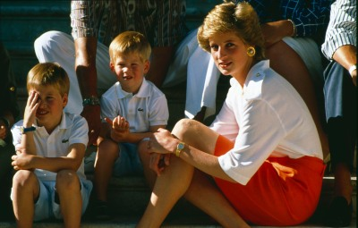 Prince Harry and William and Princess Diana