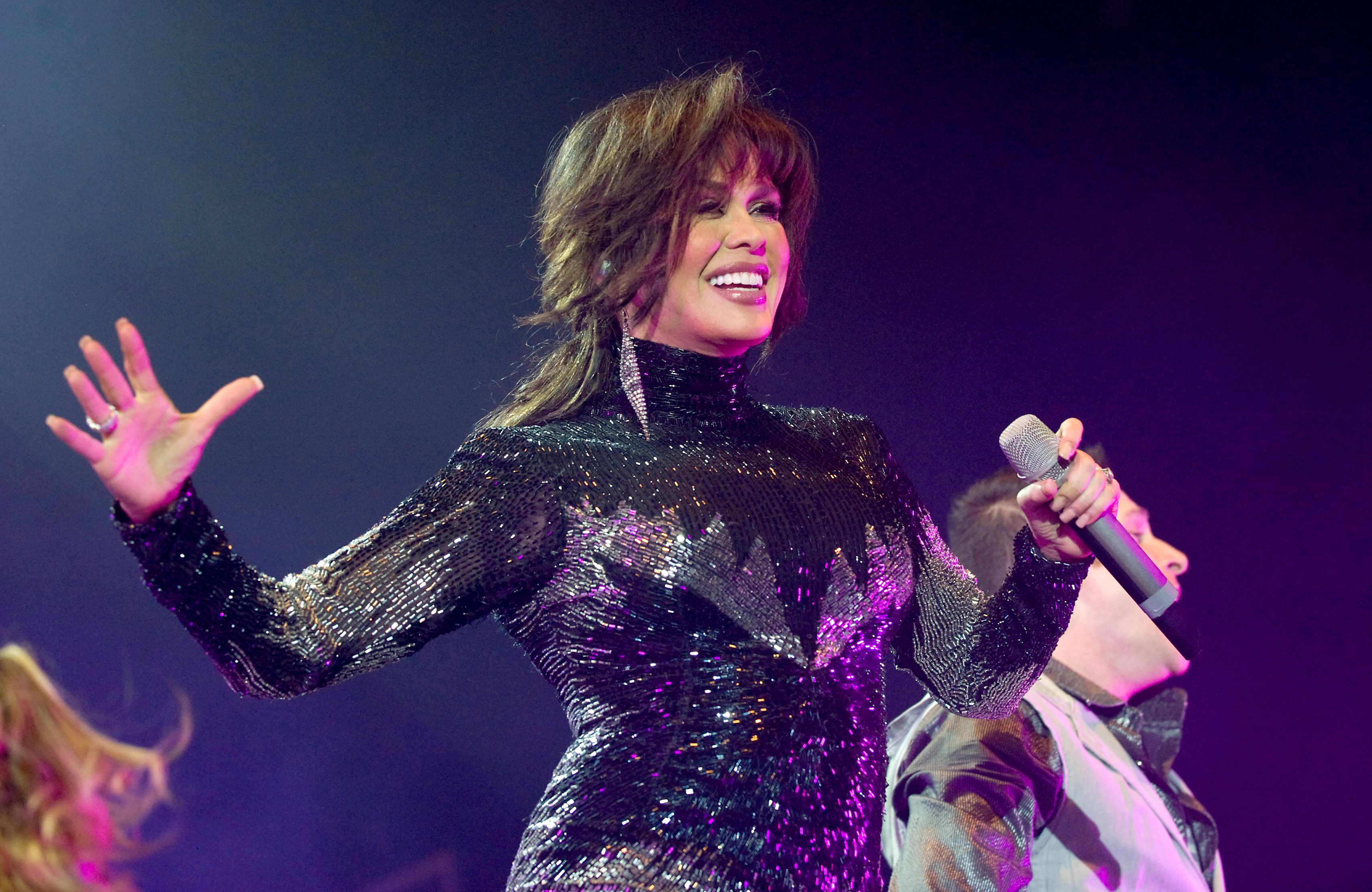 Marie Osmond Busts Out Her M-Shaped Guitar to Play a 'Honky-Tonk' Version of 'Jingle Bell Rock'