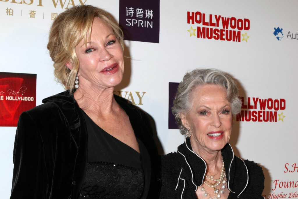 melanie griffith and mom Tippi Hedren