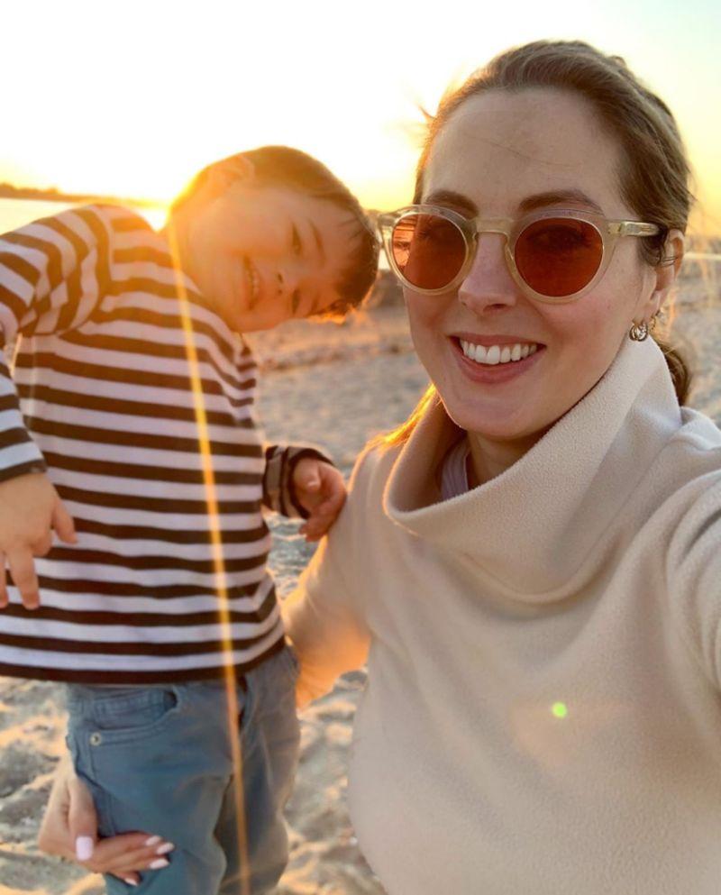 Eva Amurri and son