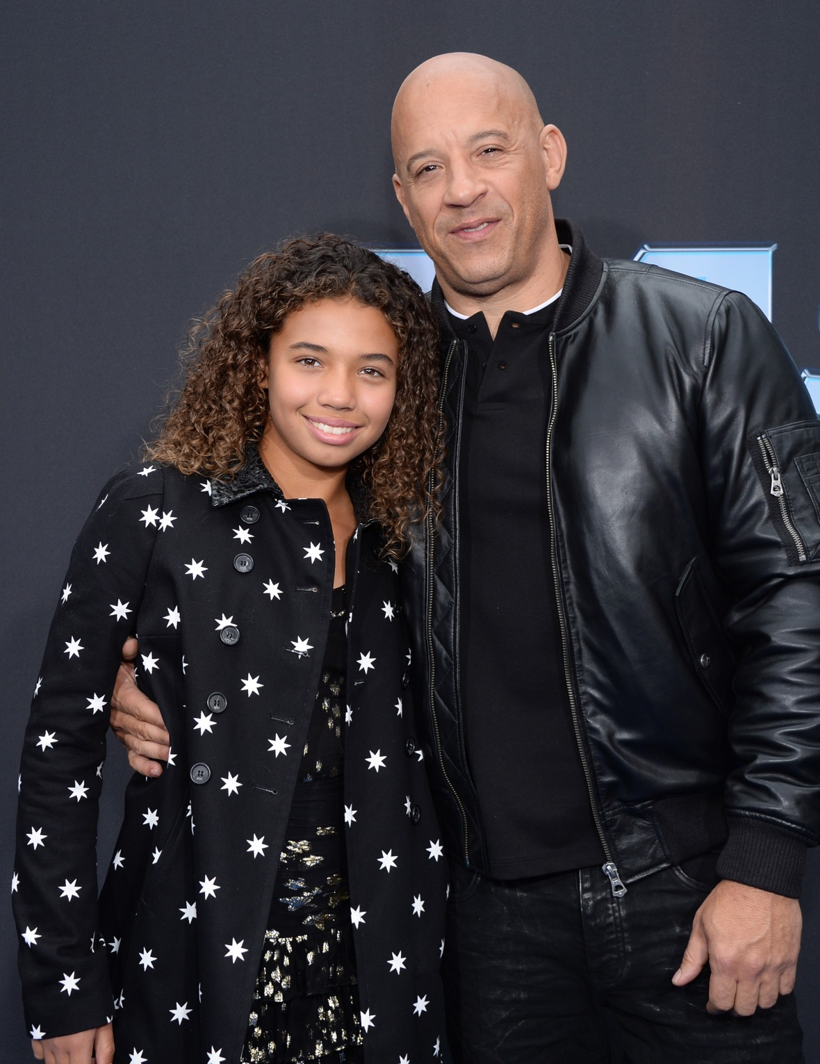 Vin Diesel and Daughter Similce at the 'Fast & Furious: Spy Racers' World Premiere