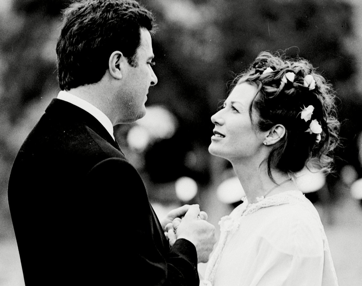 Vince Gill and Amy Grant at Their Wedding