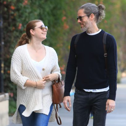 Amy Adams and husband Darren Le Gallo steps out for a Juice in West Hollywood