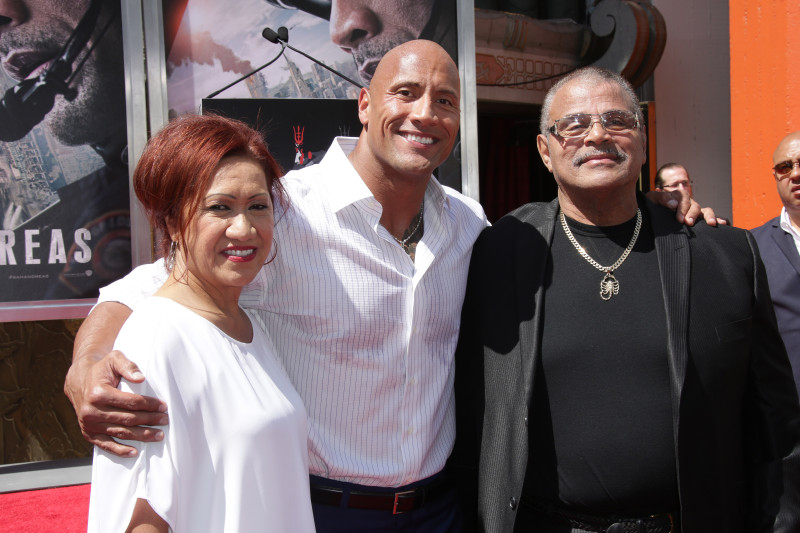 Dwayne Johnson hand and footprint ceremony, Los Angeles, America - 19 May 2015