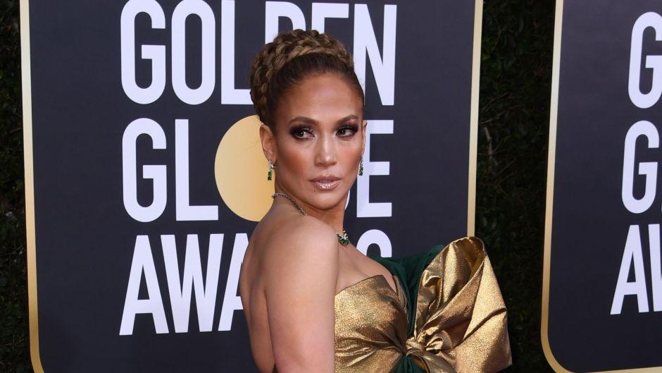 Jennifer Lopez on Golden Globes 2020 Red Carpet