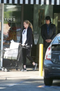 EXCLUSIVE: KISS' Gene Simmons and his wife Shannon Tweed go grocery shopping in Bel-Air!