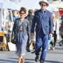 John C Reilly steps out with his wife Alison Dickey step out to go shopping at a local flea market