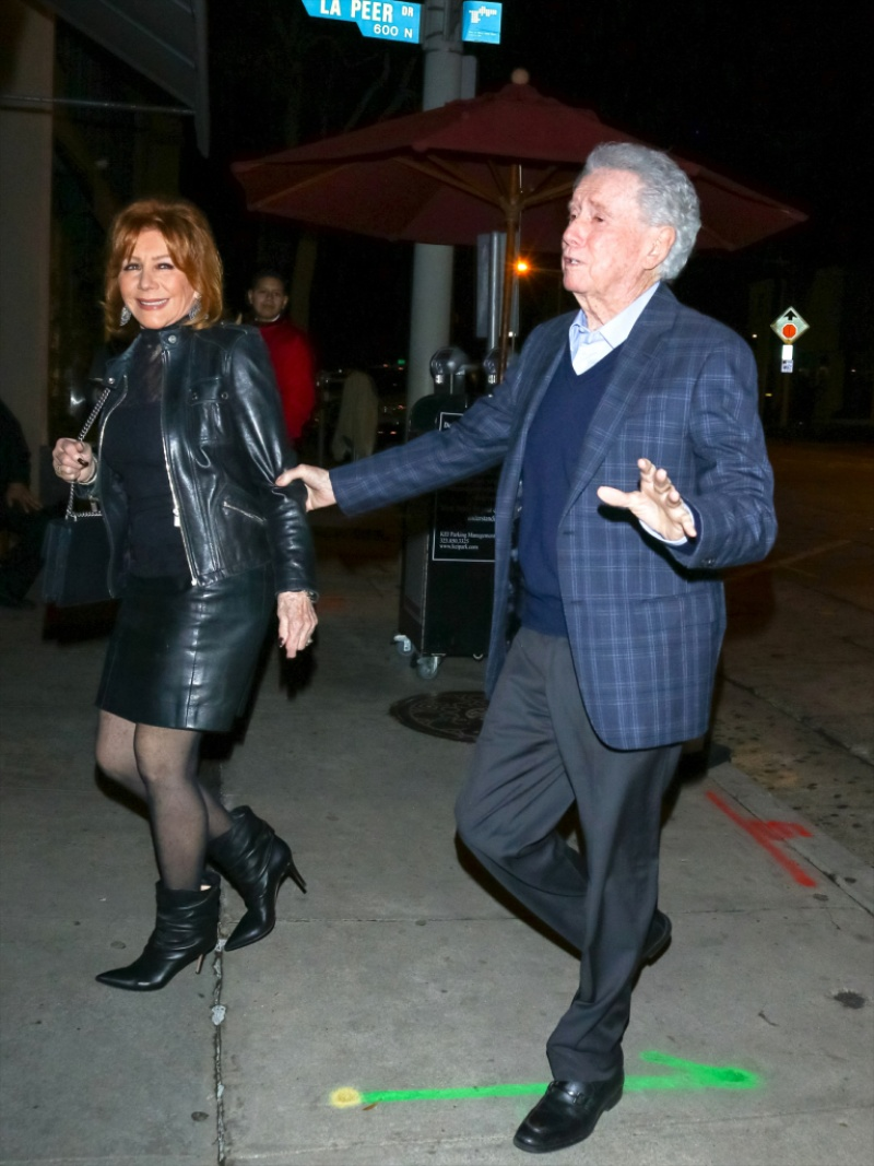 Regis Philbin and Wife Joy Enjoy Rare Outing Date Night
