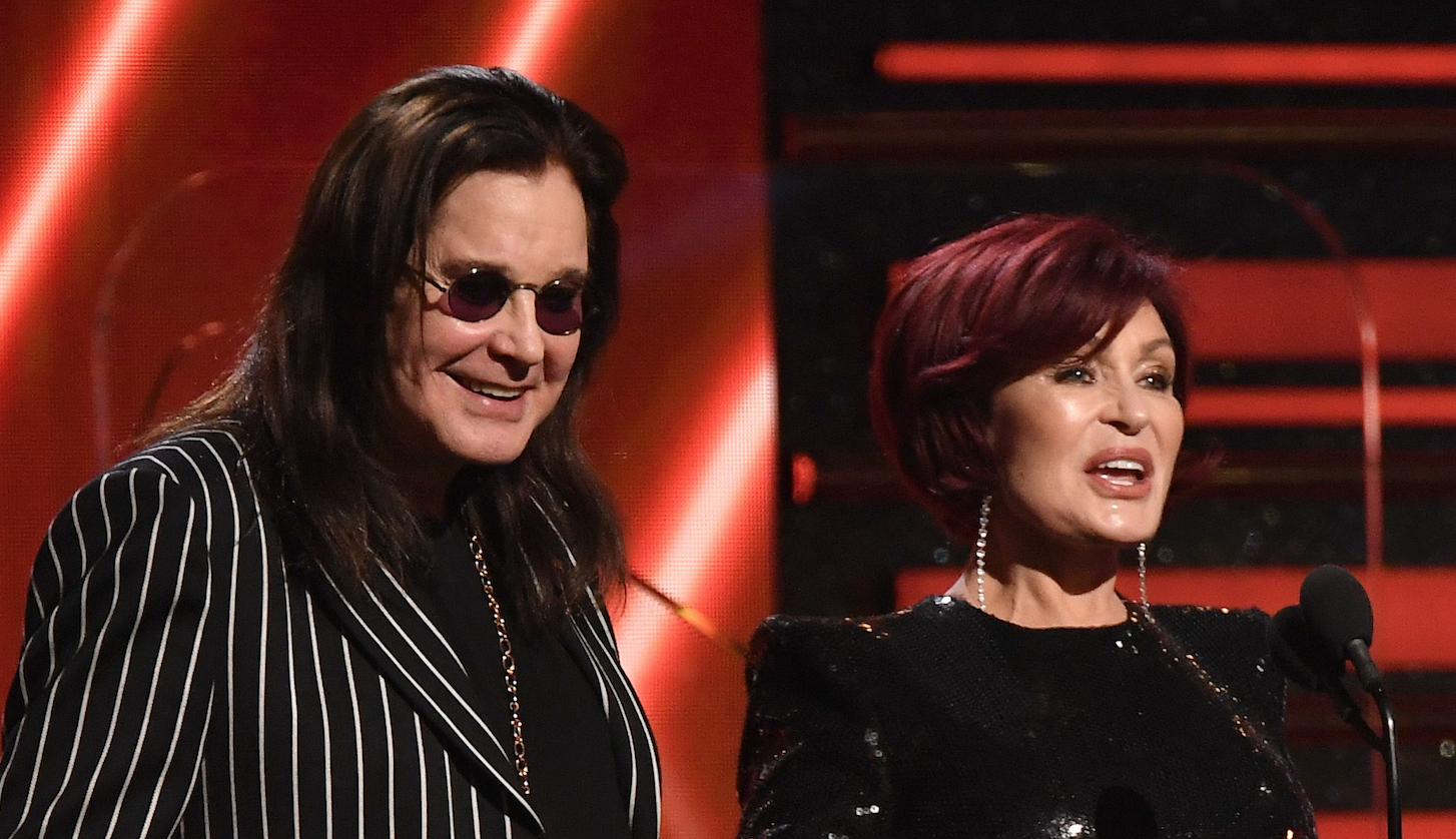 Sharon and Ozzy Osbourne Share a Sweet Kiss During 2020 Grammys Presenters Speech
