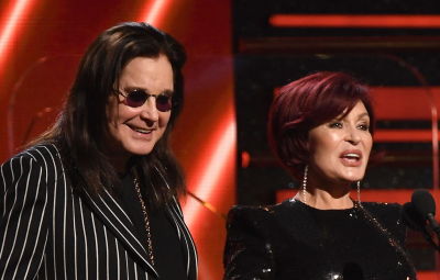 Ozzy and Sharon Kiss at the Grammys