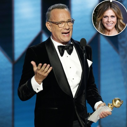 Tom Hanks' Wife Rita Gets Teary-Eyed During His Emotional Acceptance Speech at the 2020 Golden Globes 1
