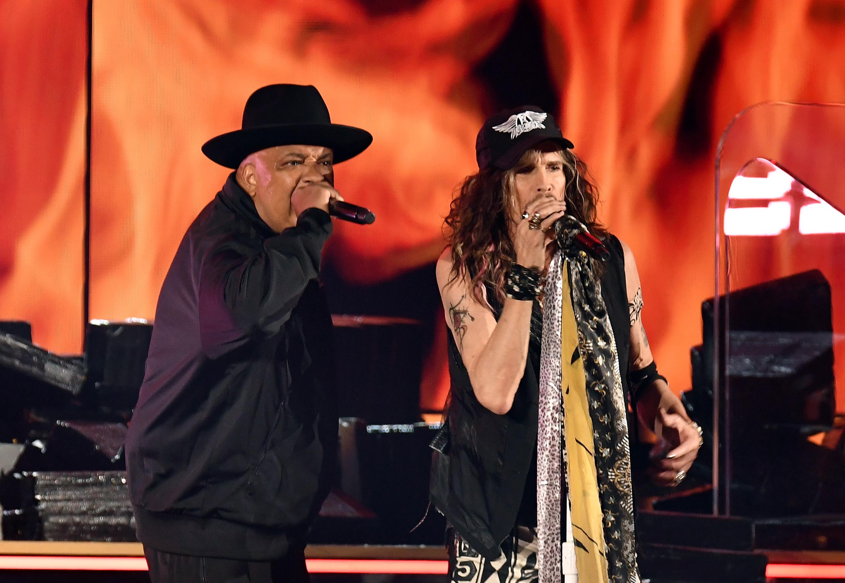 Aerosmith Performs Rockin' Rendition of 'Walk This Way' With Run-D.M.C. at 2020 Grammys — Watch!