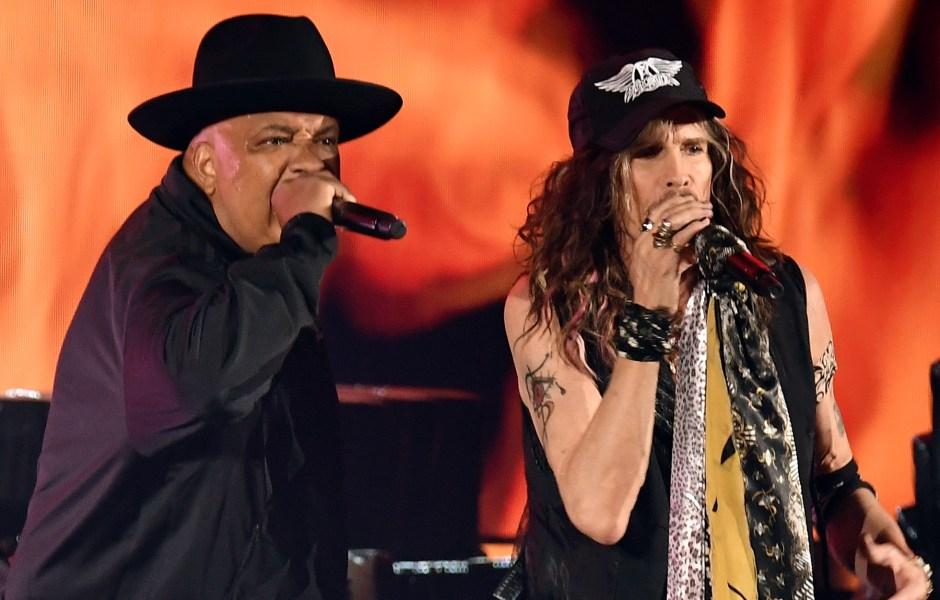 Aerosmith and Run-D.M.C. at the 2020 Grammys
