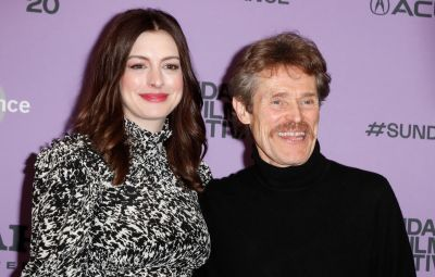 Anne Hathaway and Willem Dafoe