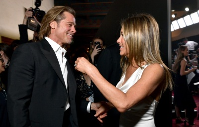 Brad Pitt and Jennifer Aniston Backstage at the 2020 SAG Awards