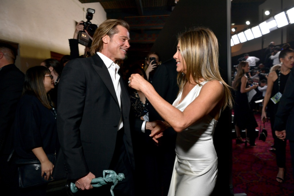 Brad Pitt and Jennifer Aniston Backstage at the 2020 SAG Awards