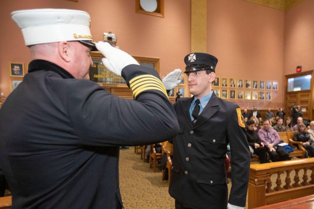 Firefighter Springsteen, Jersey City, USA - 13 Jan 2020