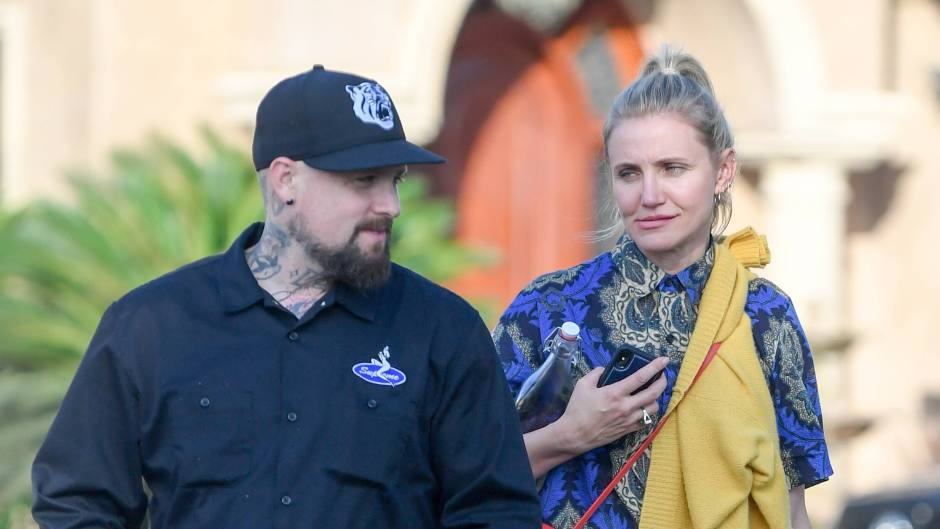 Cameron Diaz and Benji Madden leave a party thrown in her honor