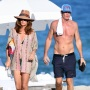 Cindy Crawford and Rande Gerber look relaxed as they hit the beach on New Year's Day in Miami